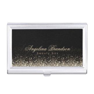 Tenedor experto del damasco de la belleza de plata cajas de tarjetas de presentación