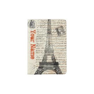 Tenedor francés del pasaporte del vintage de la porta pasaporte