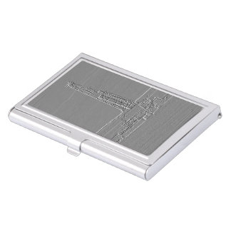 Tenedor grabado en relieve de la tarjeta de visita cajas de tarjetas de presentación