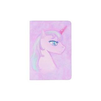 tenedor lindo del pasaporte del unicornio porta pasaporte