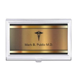 Tenedor médico de la tarjeta de visita caja de tarjetas de visita