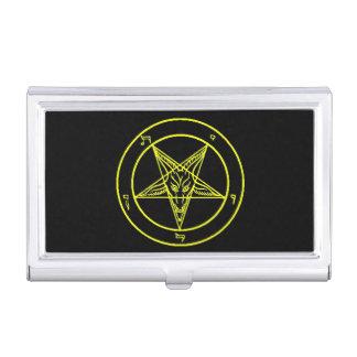 Tenedor negro/amarillo de la tarjeta de visita de cajas de tarjetas de presentación
