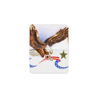 Tenedor patriótico de la tarjeta de visita de