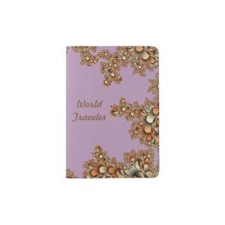 Tenedor púrpura del pasaporte del diseño moderno porta pasaporte