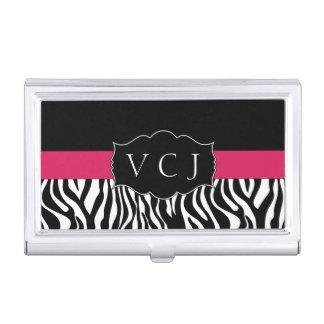 Tenedor rosado elegante de la tarjeta de visita cajas de tarjetas de negocios