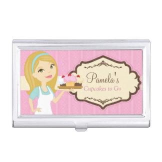 Tenedor rubio 1 de la tarjeta de visita de la caja de tarjetas de presentación