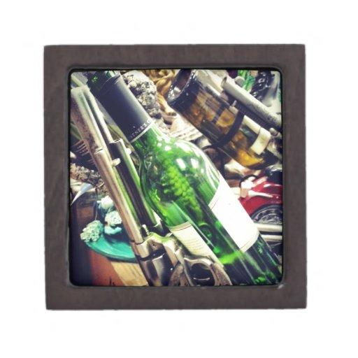 Tenedores del vino cajas de recuerdo de calidad