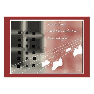 Tenement Yard ACEO Haiku Art Trading Card--------- Business Card Templates