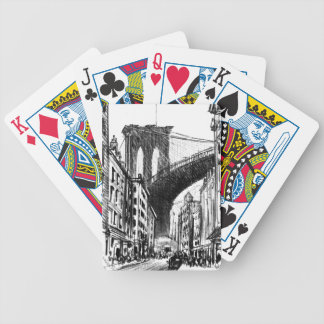 Tenements Near Brooklyn Bridge 1909 Bicycle Playing Cards
