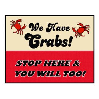 ¡Tenemos cangrejos! Postal