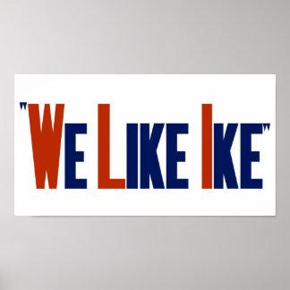 Tenemos gusto de Ike -- Poster de la elección de E