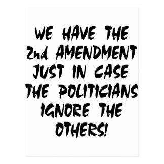 Tenemos la 2da enmienda apenas en caso tarjeta postal