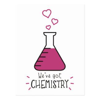 Tenemos química tarjeta postal