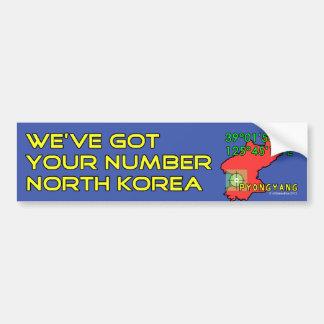 Tenemos su número Corea del Norte Pegatina Para Auto