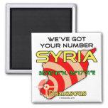 Tenemos su número Siria Imán De Nevera