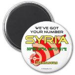 Tenemos su número Siria Imán Para Frigorífico