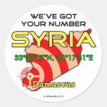 Tenemos su número Siria Pegatina Redonda