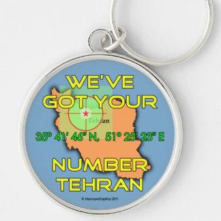 Tenemos su número Teherán Llavero Redondo Plateado