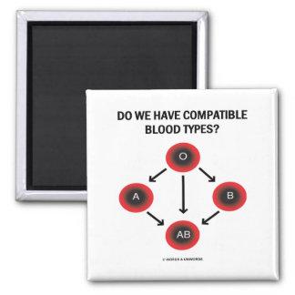 ¿Tenemos tipos de sangre compatibles? (Medicina) Imanes De Nevera