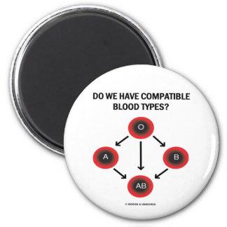 ¿Tenemos tipos de sangre compatibles? (Medicina) Imán De Frigorifico
