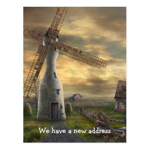 Tenemos una nueva dirección - postal - plantilla