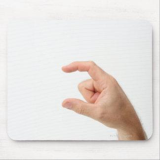 Tenencia de la mano, vacía alfombrillas de ratón