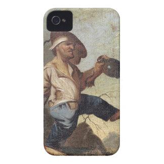 Tenencia enana un jarro (aceite en la lona colocad iPhone 4 protectores