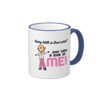 Tener figura sobrestimada pelo del palillo del cán taza de café