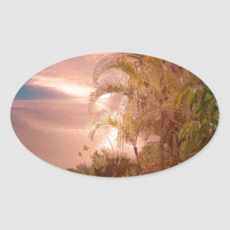 Tenerife,awesome effect oval stickers