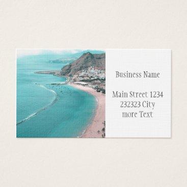 Beach Themed Tenerife Business Card