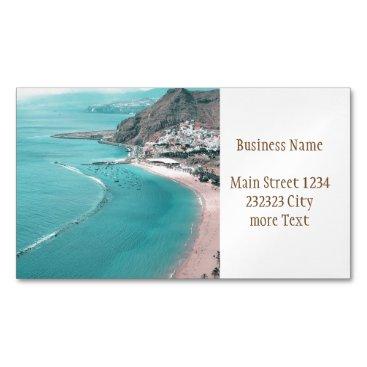 Beach Themed Tenerife Business Card Magnet