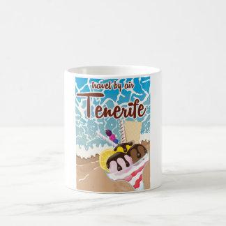 Tenerife ice cream cartoon travel poster coffee mug