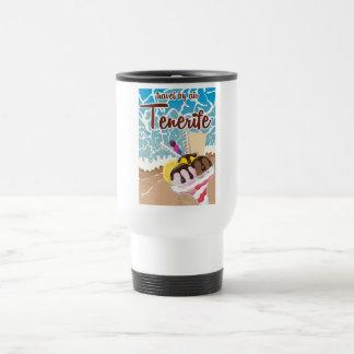 Tenerife ice cream cartoon travel poster travel mug