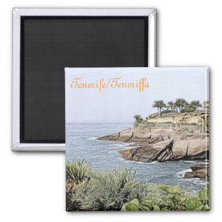 Tenerife,painted 2 Inch Square Magnet