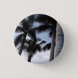 Tenerife Palm Trees Button Badge
