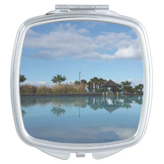 Tenerife Poolside View Compact Mirror