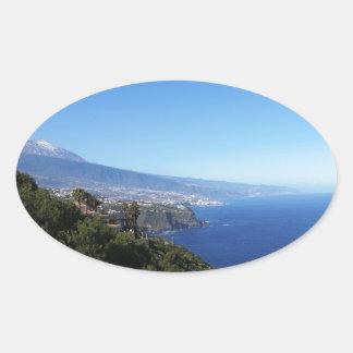 Tenerife/Teneriffa Oval Stickers