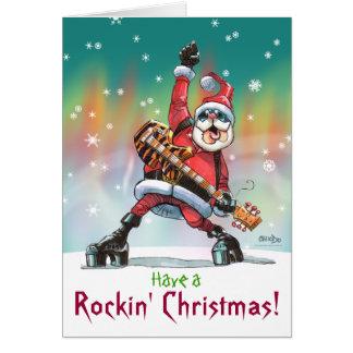 Tenga a, tarjeta de Navidad de Rockin