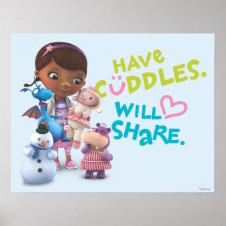 Tenga abrazos compartirá póster