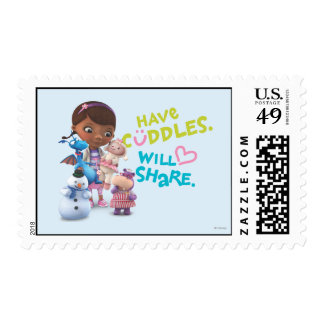 Tenga abrazos compartirá sello postal