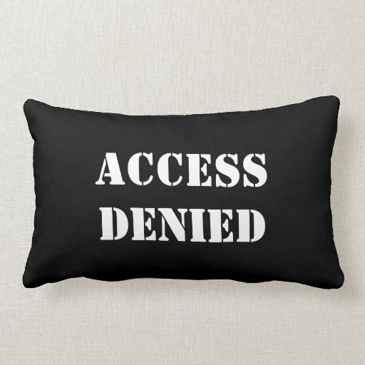 Tenga acceso a la almohada lumbar negada