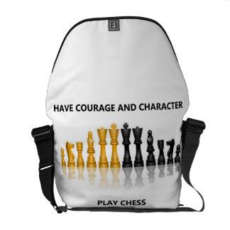 Tenga ajedrez del juego del valor y del carácter bolsa de mensajería