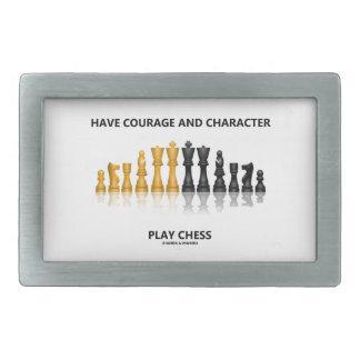 Tenga ajedrez del juego del valor y del carácter hebilla cinturón rectangular
