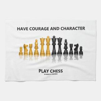 Tenga ajedrez del juego del valor y del carácter toalla