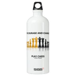 Tenga ajedrez del juego del valor y del carácter