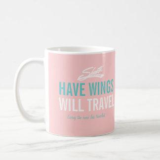 Tenga alas - remolque de campista del vintage de taza básica blanca
