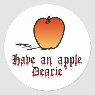 Tenga Apple Pegatina Redonda