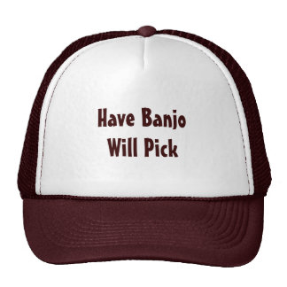 Tenga banjo escogerá gorro de camionero
