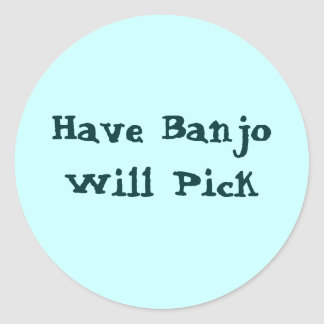 Tenga banjo escogerá pegatina redonda