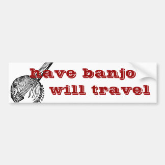tenga banjo viajará pegatina para el parachoques pegatina para auto